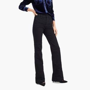 J. CREW Black Wide-Leg Trouser Jean